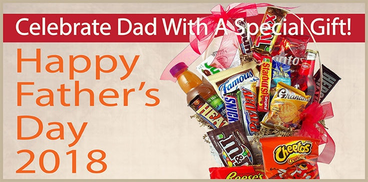 Great gifts for Fathers Day, June 17, including keepsake containers and fruit and gourmet baskets.
