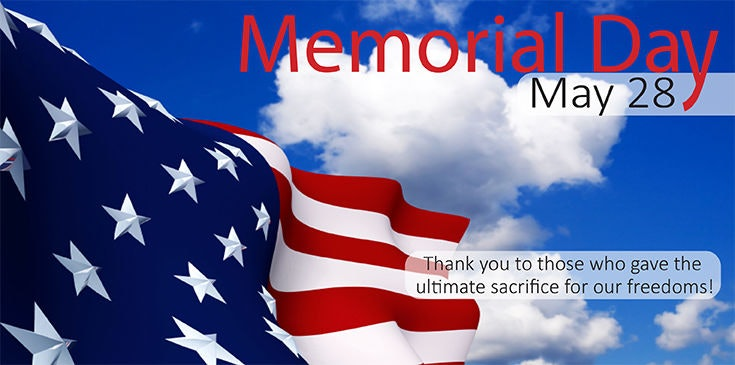 Thank you to all who gave the ultimate sacrifice for our freedoms.