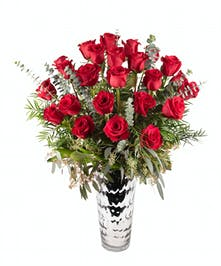 2 dozen premium red rose arrangement