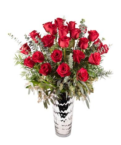 2 dozen premium red rose arrangement