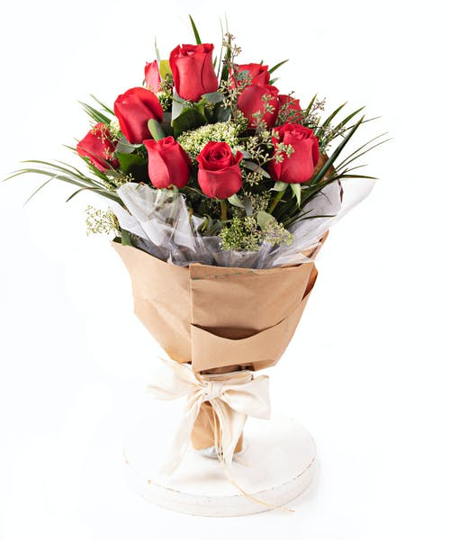 Hand-Tied Rose Bouquet