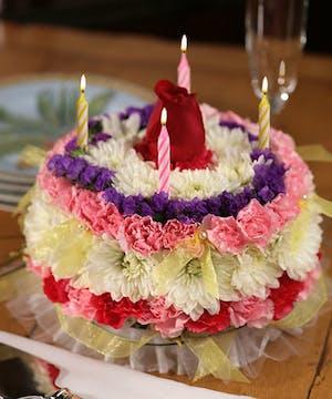 A No Calorie Cake made of Flowers