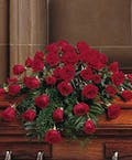 Sympathy Casket Spray - Blooming Red Roses
