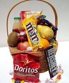 An upbeat gift basket!