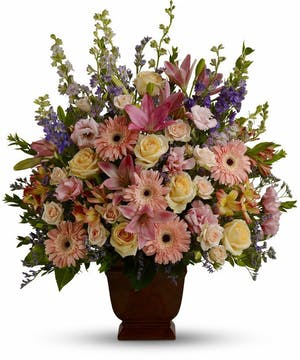 A gracefully composed arrangement.