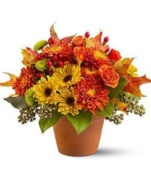 A bright floral arrangement!