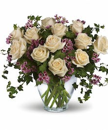 Romance blossoms with this elegant bouquet.