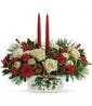 Halls Of Holly Centerpiece - Deluxe