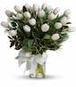 Tulips And Pine Bouquet - Premium