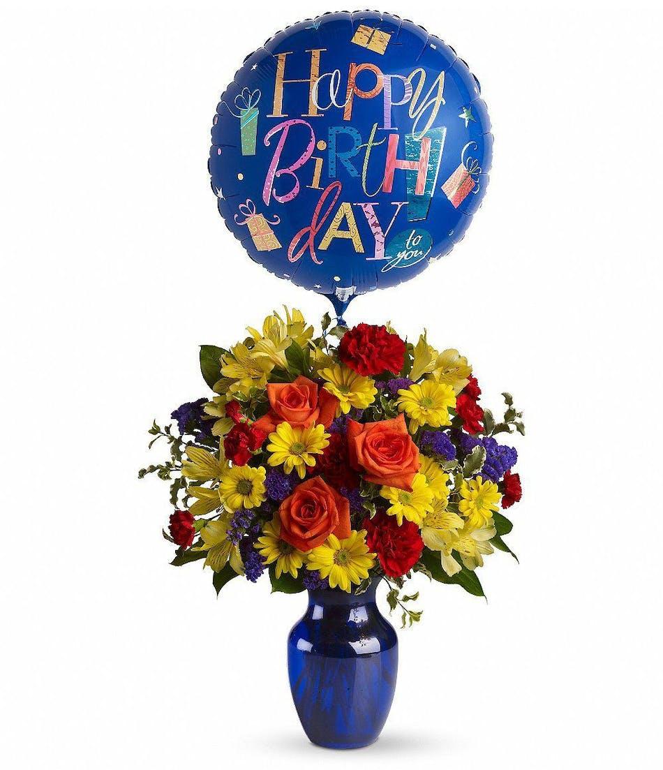 Fly Away Birthday Bouquet Vogts Flowers Flint Flushing Davison Grand