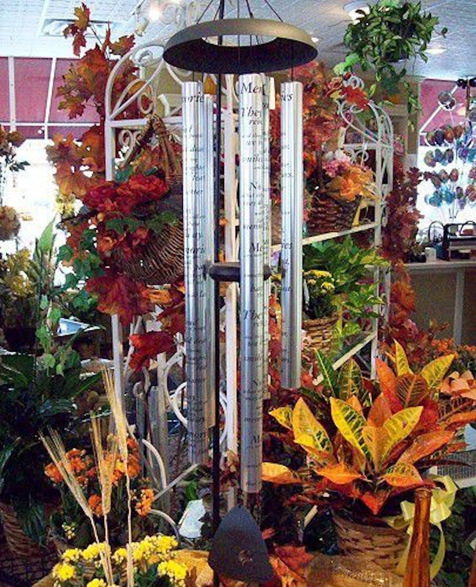 Wind Chime Large Vogts Flowers Flint Mi Florist Flushing